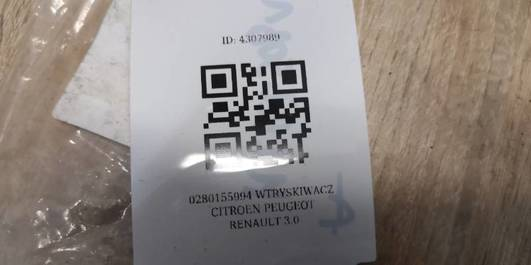 0280155994 WTRYSKIWACZ CITROEN PEUGEOT RENAULT 3.0