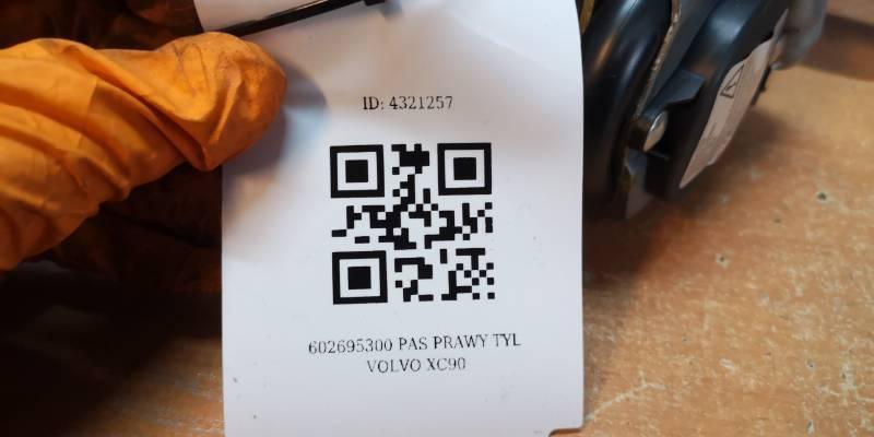 602695300 PAS PRAWY TYL VOLVO XC90