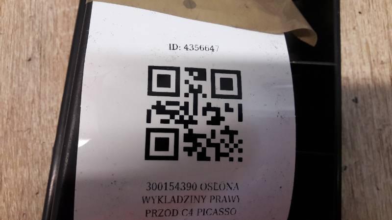 300154390 OSLONA WYKLADZINY PRAWY PRZOD C4 PICASSO