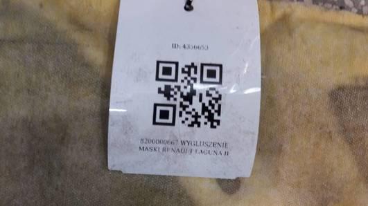 8200000667 WYGLUSZENIE MASKI RENAULT LAGUNA II