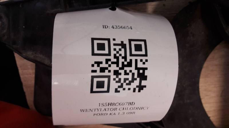 1S5H8C607BD WENTYLATOR CHLODNICY FORD KA 1.3 09R
