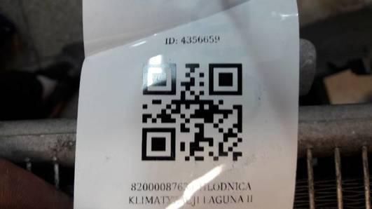 8200008763 CHLODNICA KLIMATYZACJI LAGUNA II 1.6