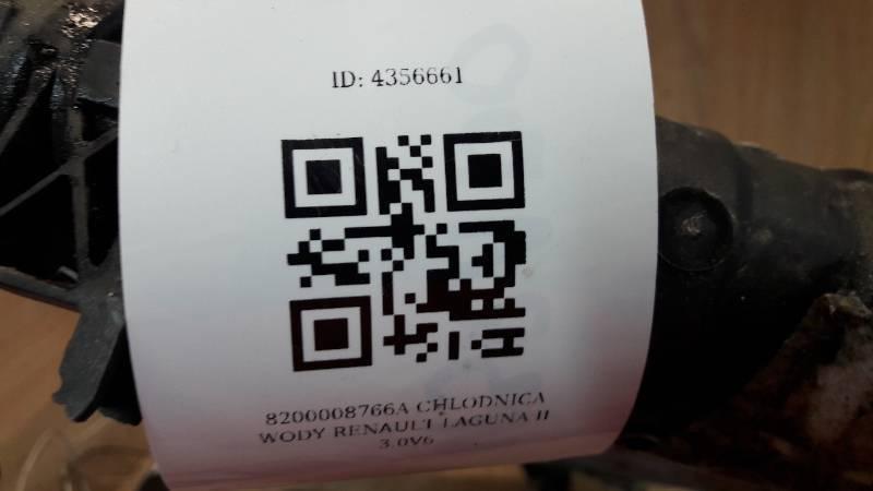 8200008766A CHLODNICA WODY RENAULT LAGUNA II 3.0V6