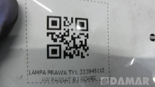 LAMPA PRAWA TYŁ 333945112 VW PASSAT B3 KOMBI
