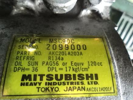MITSUBISHI CARISMA 1.6 MSC90C Sprezarka Klimatyzac