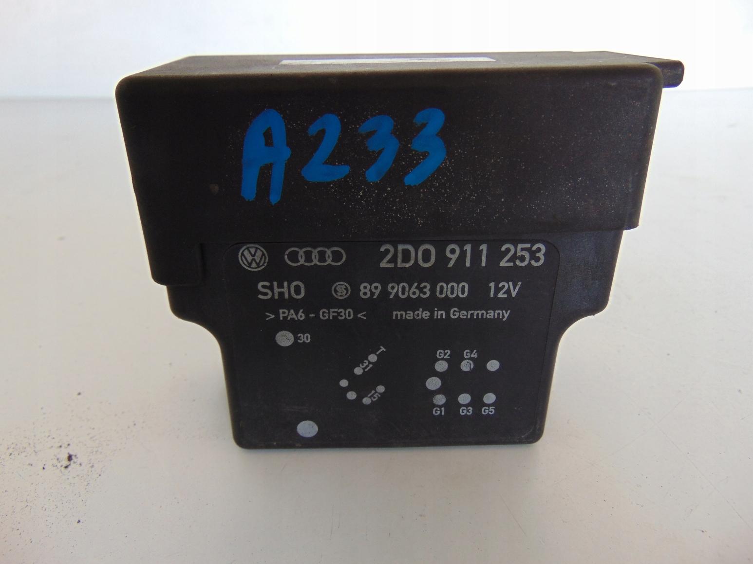 VW LT PRZEKAZNIK ŚWIEC ZAROWYCH 2d0911253