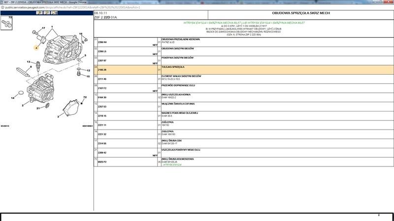 PEUGEOT406 607 XANTIA TULEJA SPRZĘGŁA2.0HDI 16V3.0